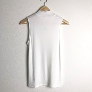 GAP Tops - GAP NWT White Slim Ribbed Mock Neck Top